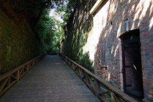 猿島 レンガの壁